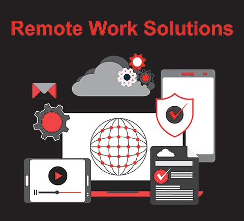 Remote work graphic