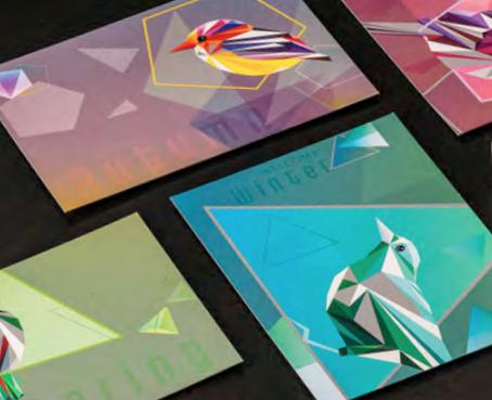 Iridescent palette designs