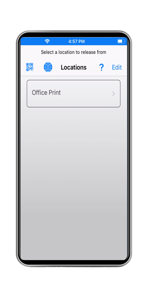 uniflow mobile printing iphone screen