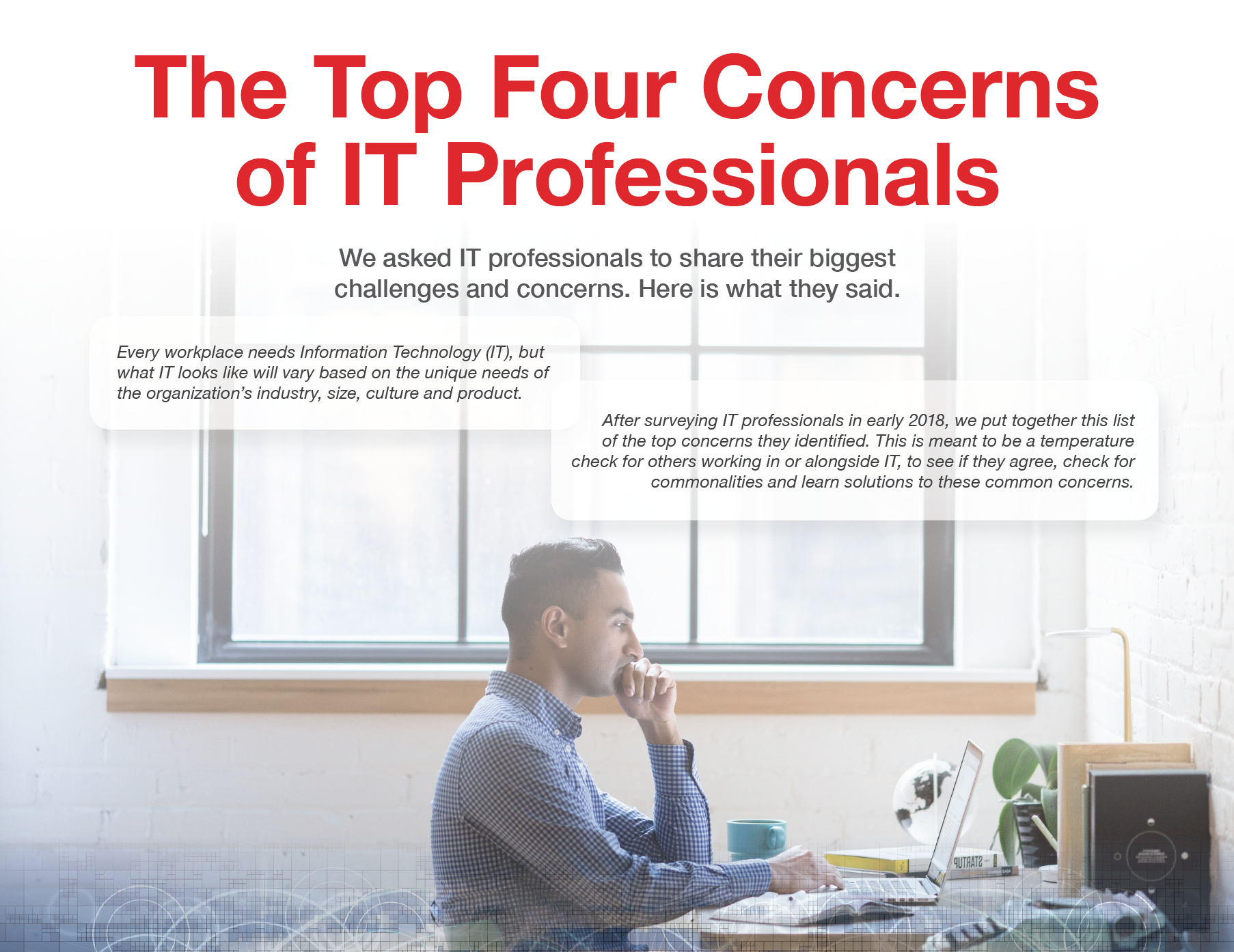 The Top Four Concerns of IT Professionals ebook cover Loffler Companies