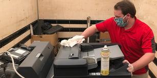 disinfecting copier