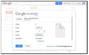 Google cloud print image