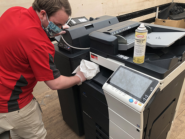 Sanitizing Copier Equipment Wipe Down Office Loffler Companies